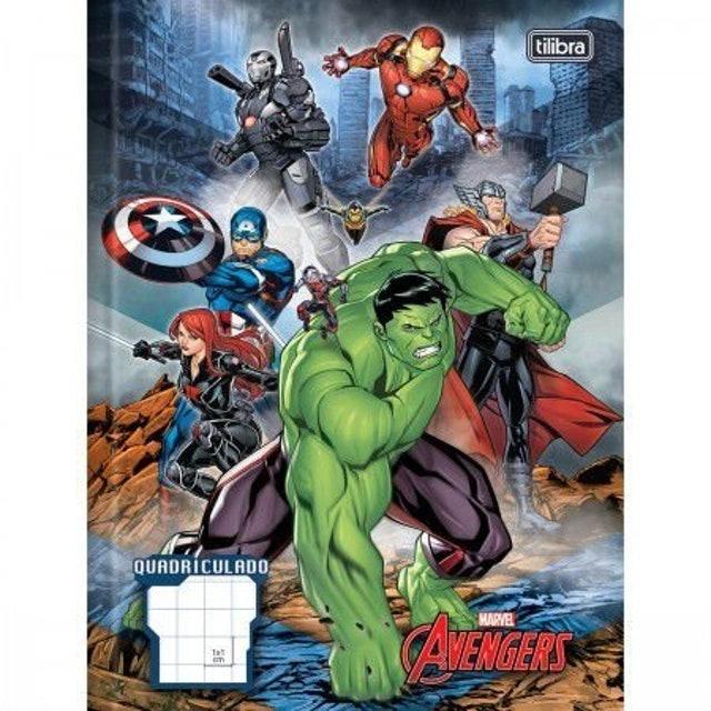 TILIBRA Caderno Brochura Quadriculado Avengers Assemble 40 Folhas 1