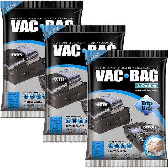 ORDENE Vac Bag Trip Bag - Saco a Vácuo para Viagens (3 Unidades) 1