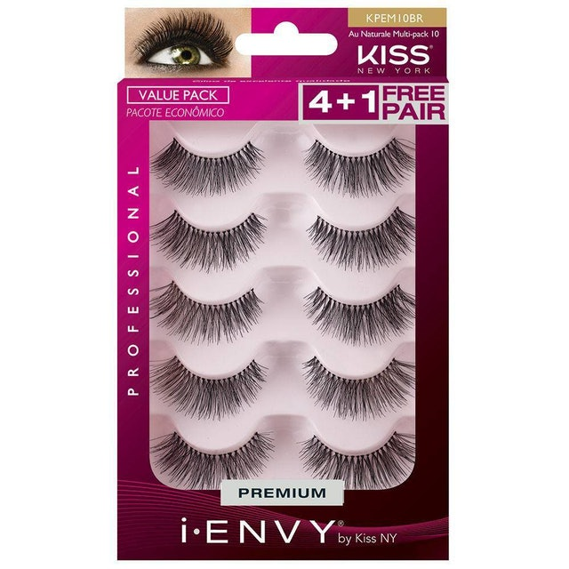 KISS NY Cílios Mult Pack Au Naturale 10 1