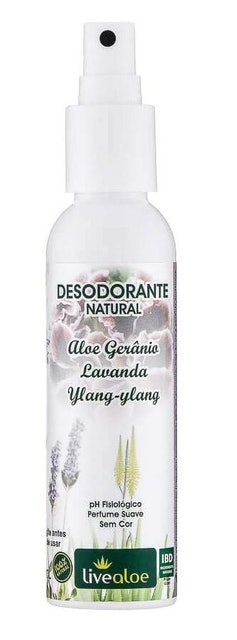 LIVEALOE Desodorante Natural Aloe 1