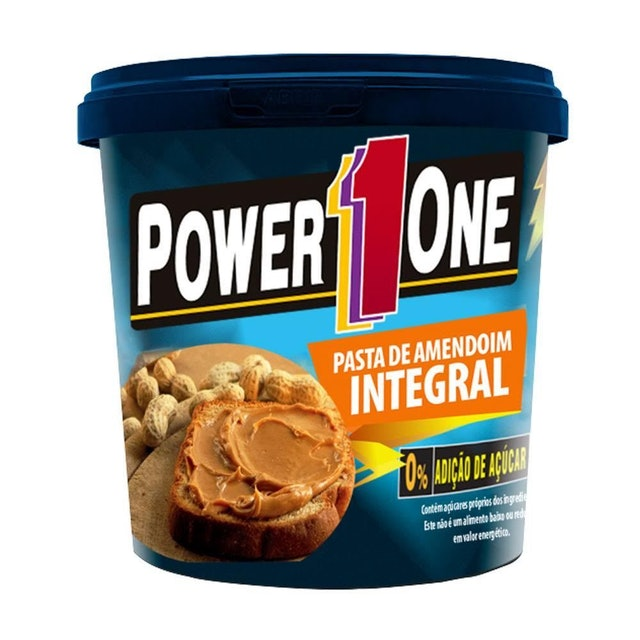 POWER ONE Pasta de Amendoim Integral 1kg 1