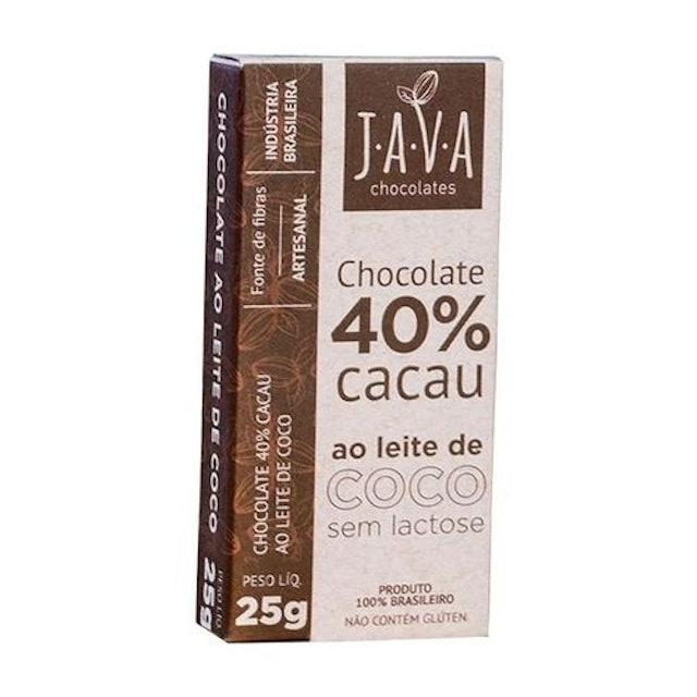 JAVA Chocolate 40% Cacau ao Leite de Coco 25g 1