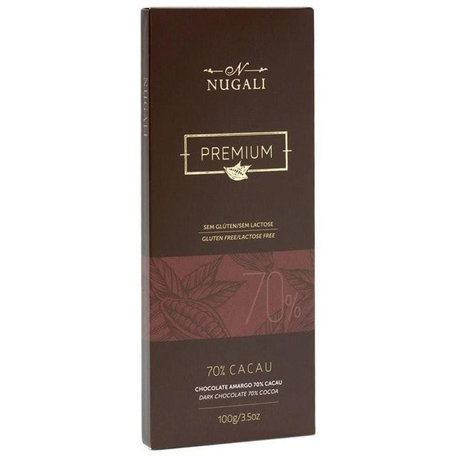 NUGALI Chocolate Amargo Premium 70% Cacau 100g 1