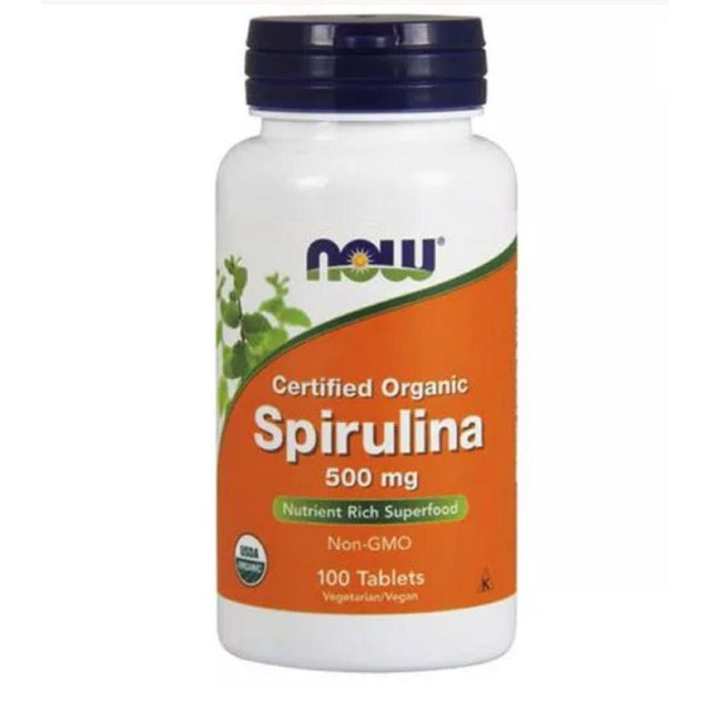 NOW FOODS Spirulina Natural 500mg 100 Tabletes 1