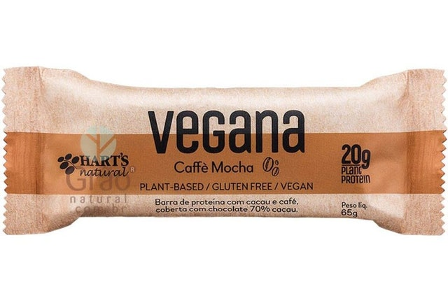 HART'S NATURAL Barra De Proteína Vegana Caffé Mocha 65g 1