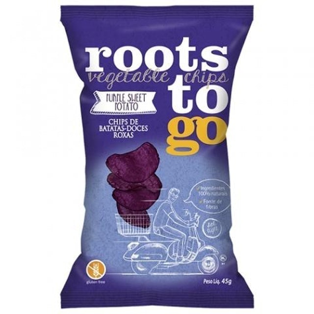 ROOTS TO GO Chips de Batata-Doce Roxa 45g 1