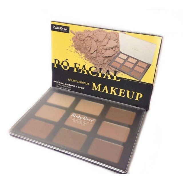 RUBY ROSE Paleta Pó Facial 9 Cores Nude Hb-7208 1