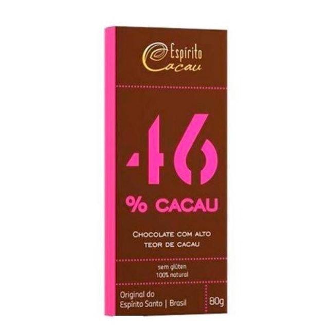 ESPÍRITO CACAU Chocolate 46% Cacau 80g 1