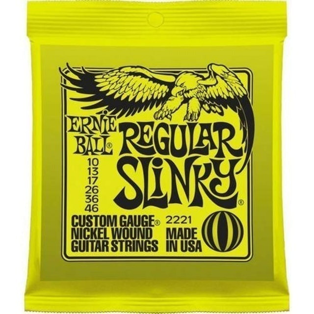 ERNIE BALL Encordoamento Guitarra Regular Slinky 010 1