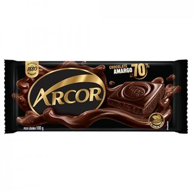 ARCOR Chocolate Amargo 70% Cacau 100g 1