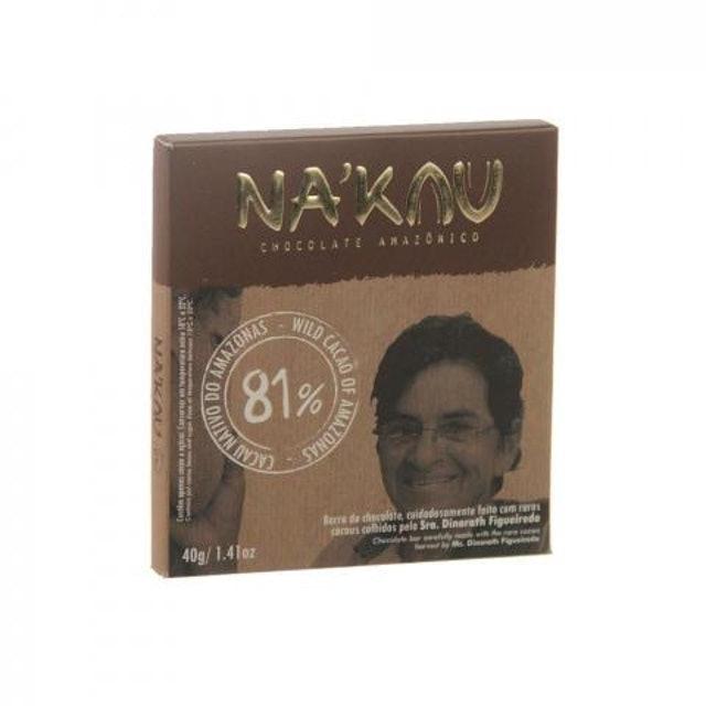 NA'KAU Chocolate Na'kau 81% Cacau 40g 1