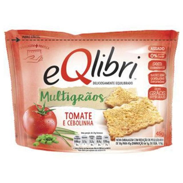 EQLIBRI Snack Salgado Multigrãos Tomate e Cebolinha 1