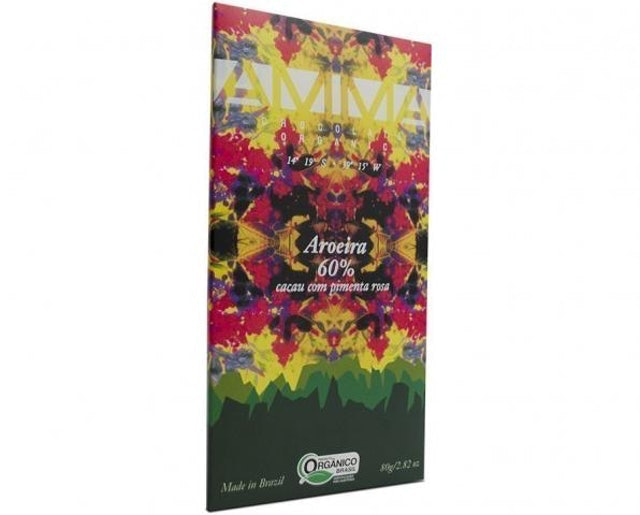 AMMA CHOCOLATE Chocolate Orgânico Aroeira 60% Cacau 80g 1
