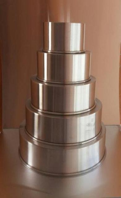 MARGEPAN ASSADEIRAS Kit Forma Redonda Alta 5 Peças em Alumínio 1