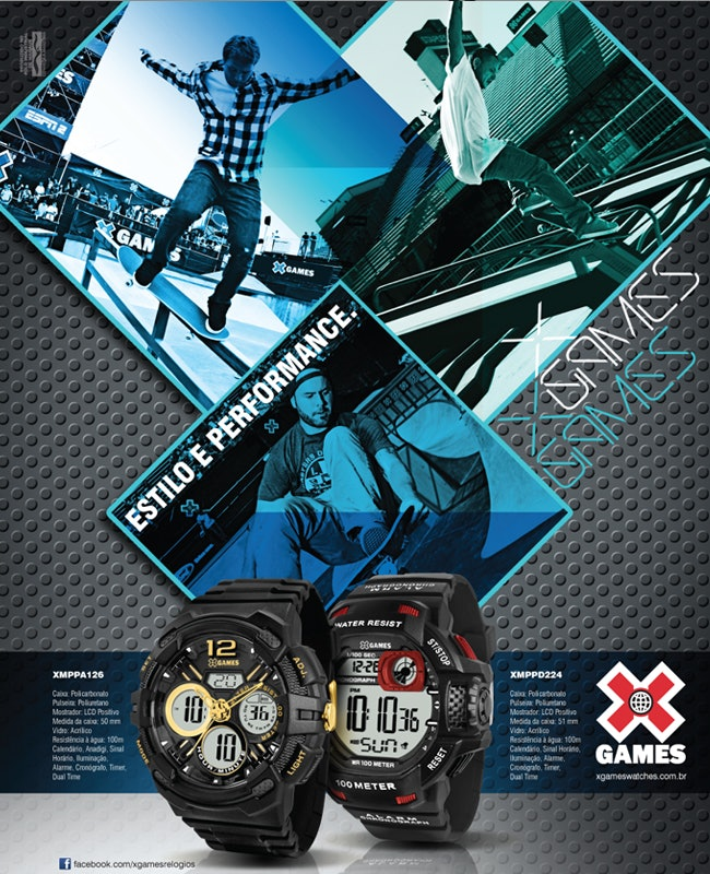 Conheça a Linha de Relógios X Games