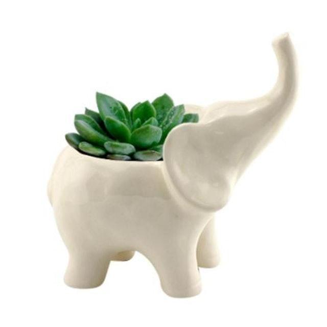 URBAN Cachepô Cerâmica Animals Elefante 1
