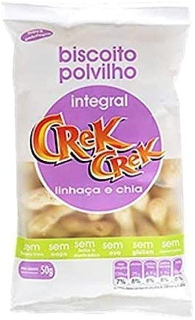 CREK CREK Biscoito de Polvilho Integral Linhaça e Chia 1