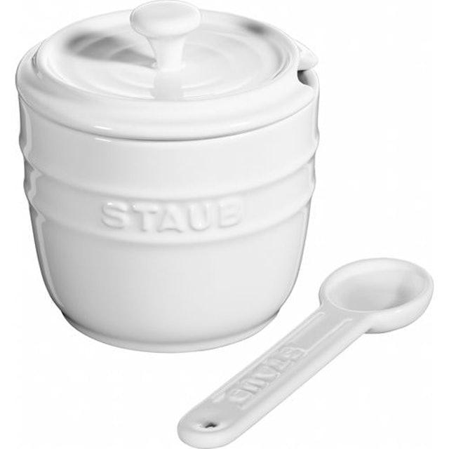 STAUB Açucareiro com Colher Cerâmica 250 ml Branco 1