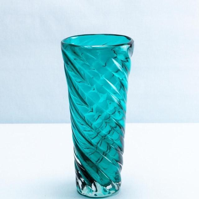 CASA ETNA Vaso de Flor em Vidro Unique Turquesa 1