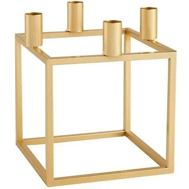 MART Porta Velas Dourado em Metal 1