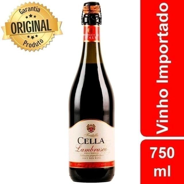 FRATELLI CELLA Vinho Lambrusco Dell'Emilia Rosso IGT 1