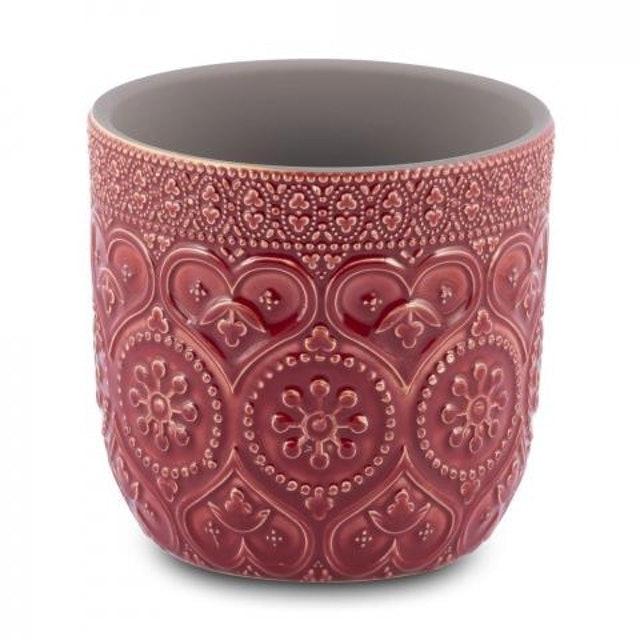 CASA DEL GRANDE Cachepô para Flores em Cerâmica Vermelho 1