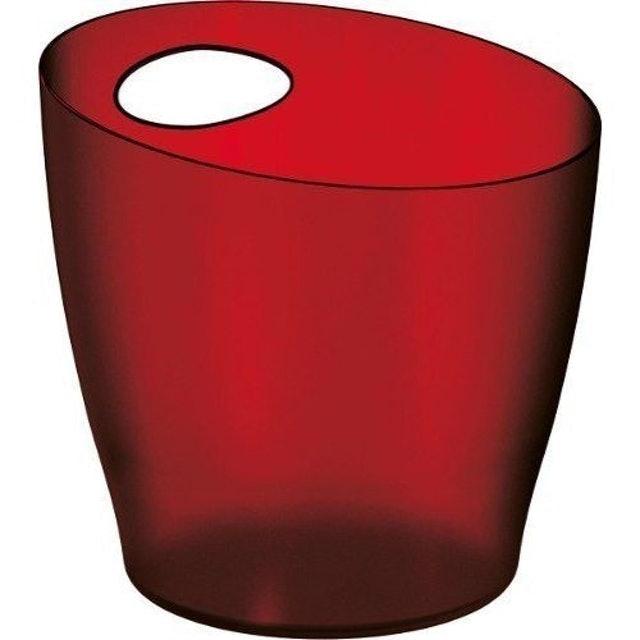 UZ Balde De Gelo De Plástico Vermelho Translucido 1