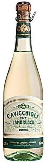CAVICCHIOLI Vinho Lambrusco Amabile Branco 1