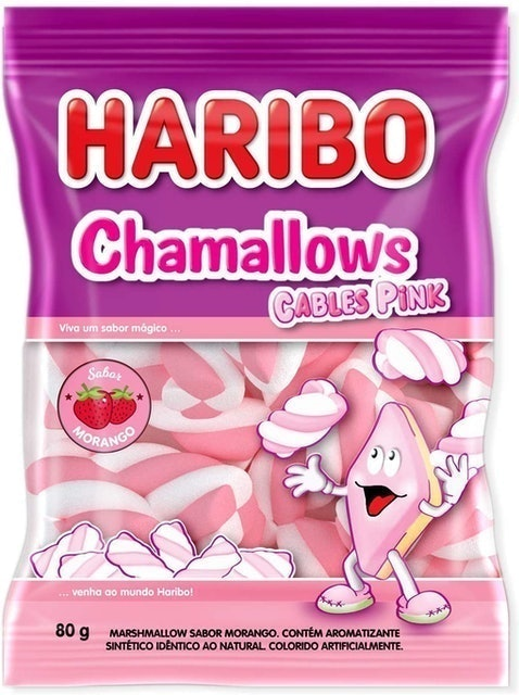 HARIBO Chamallows Cables Pink 1