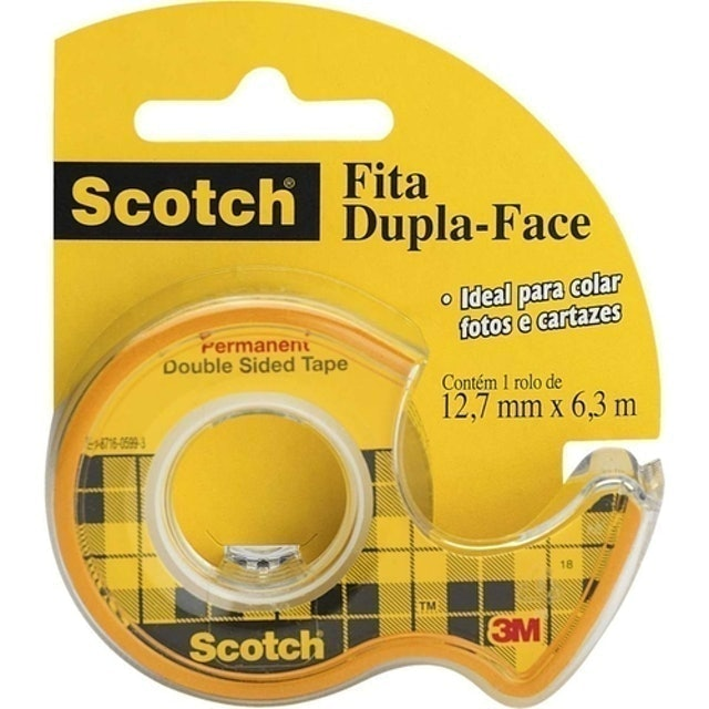 SCOTCH Fita Dupla Face Scotch® com Suporte 1