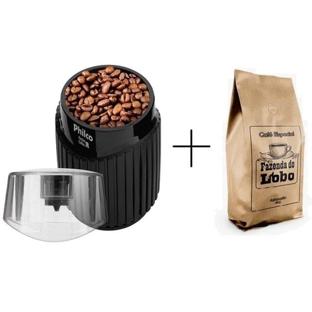 PHILCO e FAZENDA DO LOBO Kit Moedor de Café + Café em Grão 1