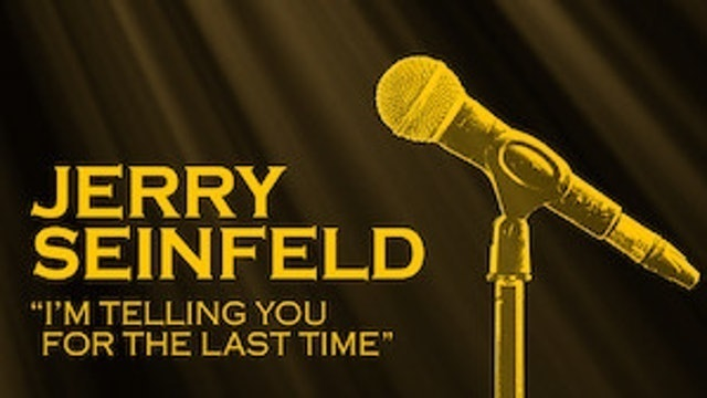 MARTY CALLNER Jerry Seinfeld: I'm Telling You for the Last Time (1998) 1