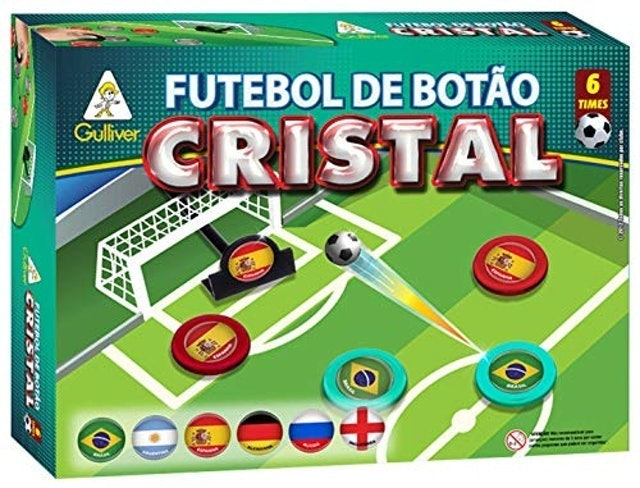 GULLIVER Futebol de Botão Cristal com 6 Seleções 1