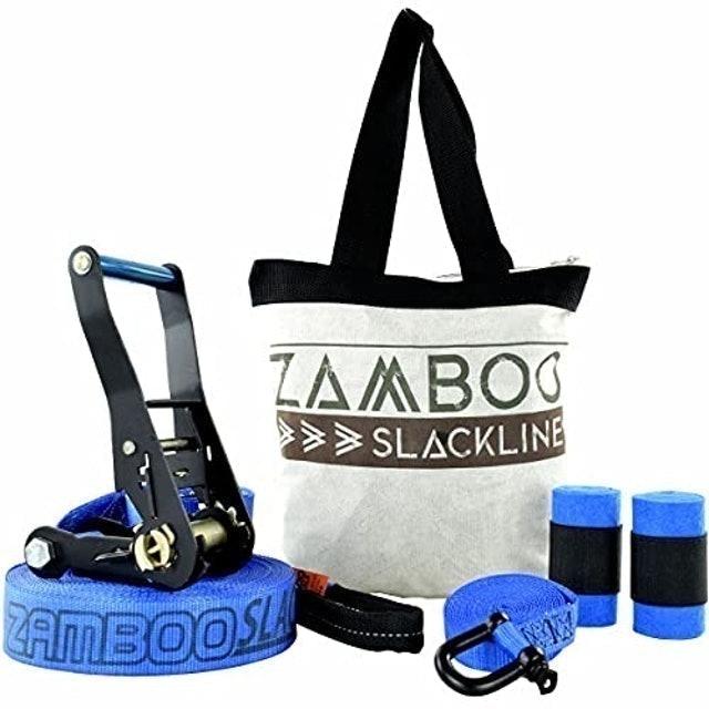 ZAMBOO Kit Slackline Pro Black 20 m 1
