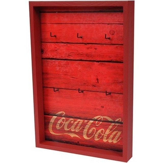 URBAN Porta-Chaves Coca-Cola Wood Style Vermelho 1
