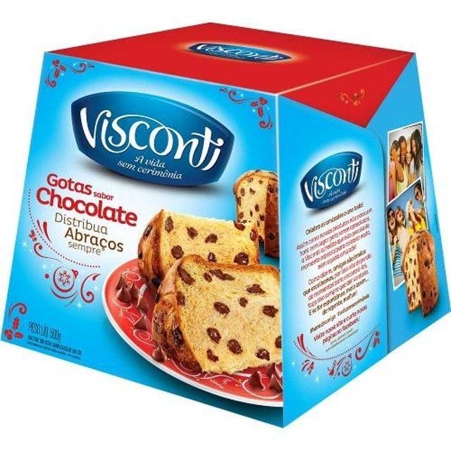 VISCONTI Panetone com Gotas Sabor Chocolate ao Leite 1