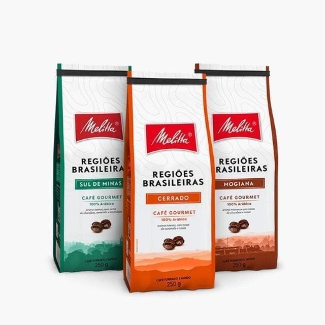 MELITTA Kit com 3 tipos de Cafés Regiões Brasileiras 1