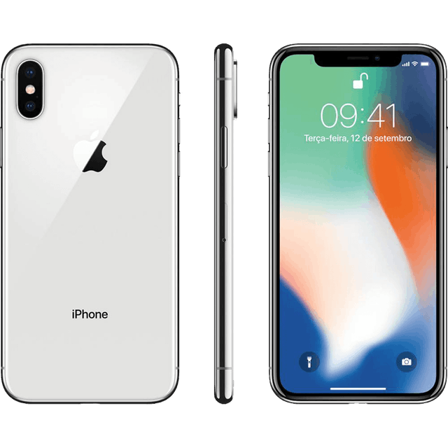 APPLE  iPhone X Prateado 64 GB 1