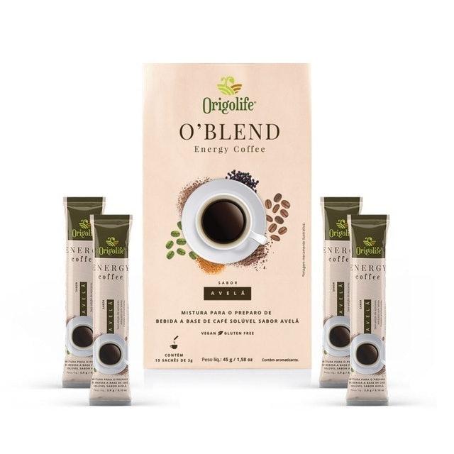 ORIGOLIFE O'Blend Energy Coffee Avelã Café Termogênico 1