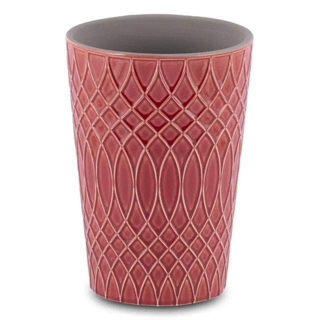 CASA DEL GRANDE  Vaso para Flores em Cerâmica Vermelho  1