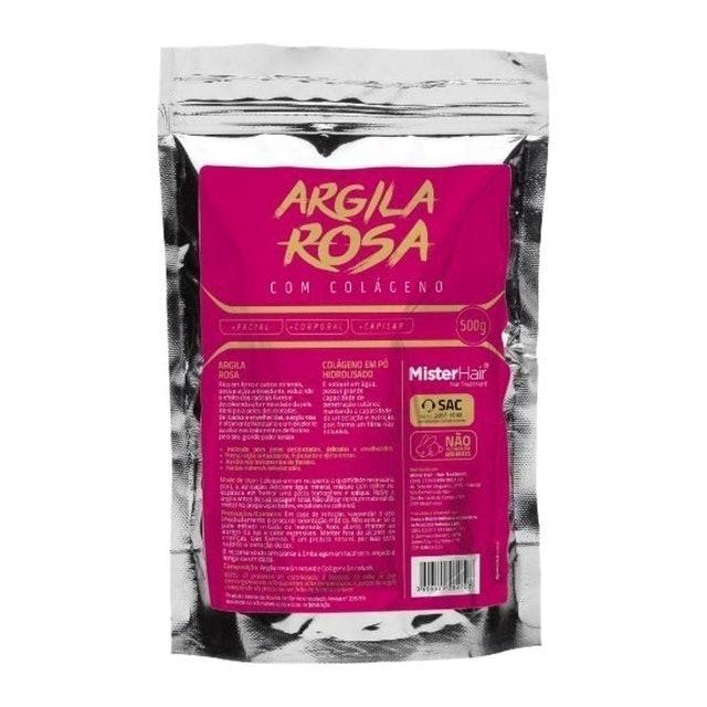 MISTER HAIR Argila Rosa com Colágeno  1