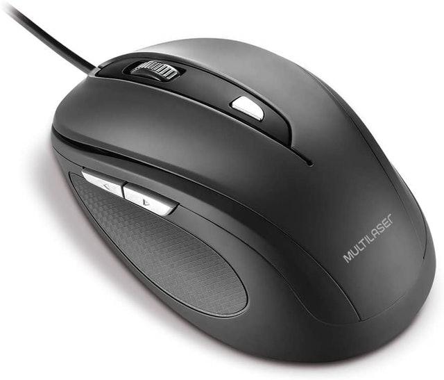 MULTILASER  Mouse Comfort 6 Botões 1