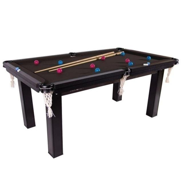 PROCÓPIO Mesa de Snooker Sinuca Residencial Ébano Escuro 1