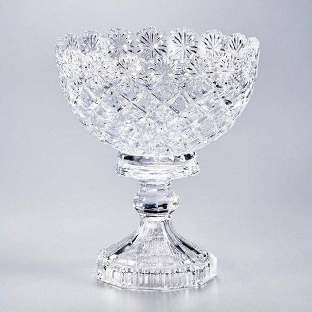 LYOR Fruteira Centro de Mesa Diamond Cristal 1
